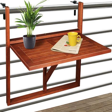 Table De Balcon Suspendue En Bois D Acacia Certifie Fsc Pliable