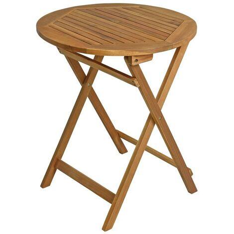 Table de balcon table pliante table en bois 60x60 cm table de jardin table en bo