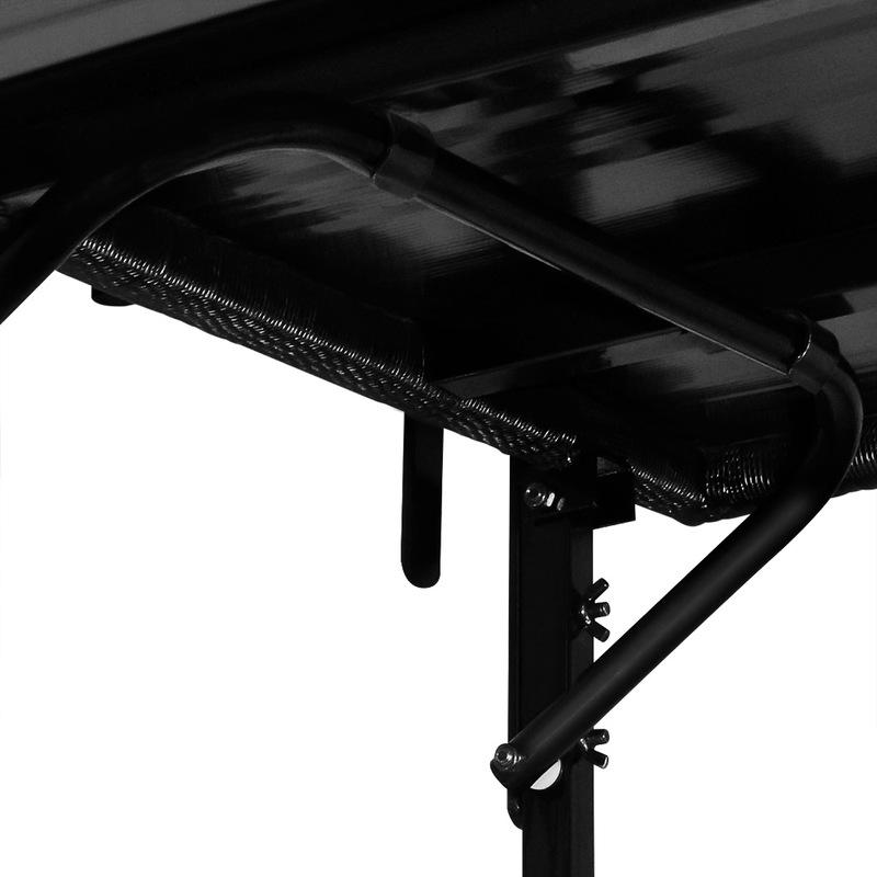c6e531fe5b30f Table de balcon tablette suspendue ajustable en hauteur - rabattable  polyrotin noir - 102322