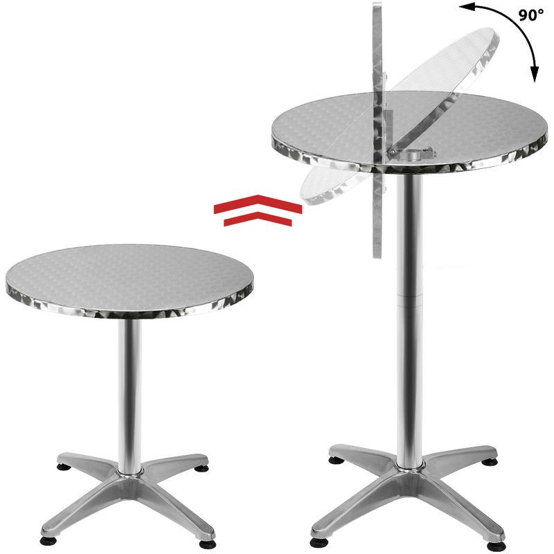 Table de bar 2en1 alu hauteur réglable - 70cm/110cm - Cuisine jardin  terrasse