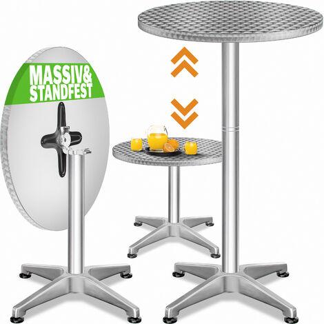 Table de bar 2en1 alu hauteur réglable - 70cm/110cm - Cuisine jardin terrasse Réglable en hauteur / pliable