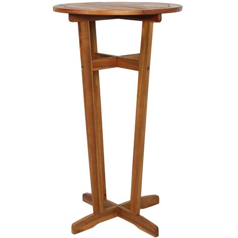 Table de bar 60x105 cm Bois d'acacia massif