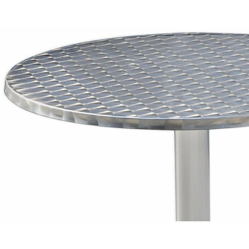 Table de bar bistrot jardin terrasse rabattable hauteur réglable 74/114 cm
