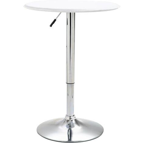 Table de bar Blanc Ø60 cm MDF
