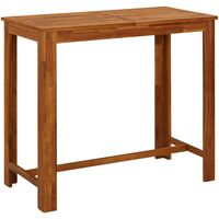 Table de bar Bois d'acacia massif 120 x 60 x 105 cm