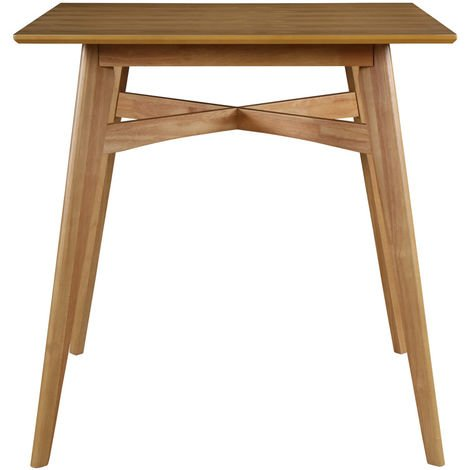Table de bar carrée bois H91.5 cm LEENA