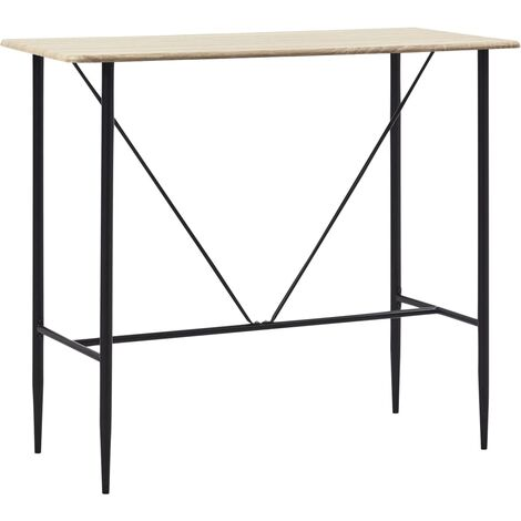Table de bar Chêne 120 x 60 x 110 cm MDF