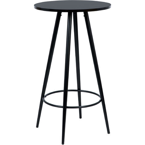 Table de bar Garibaldi ronde noire ∅60cm - Noir