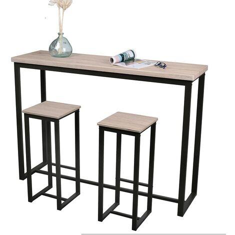 """main image of """"Table de bar murale avec 2 tabourets Dock - Naturel clair"""""""