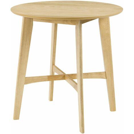 Table de bar ronde ∅90 cm Noto en bois clair - Bois clair