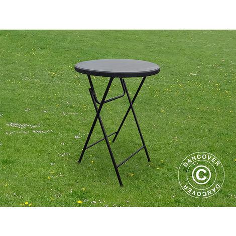 Table de bar ronde PRO Ø80x110cm, Noir