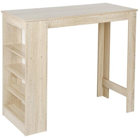 Table de bar Table à manger Table Table à manger Bistro Tiroir Etagère Bar Chêne
