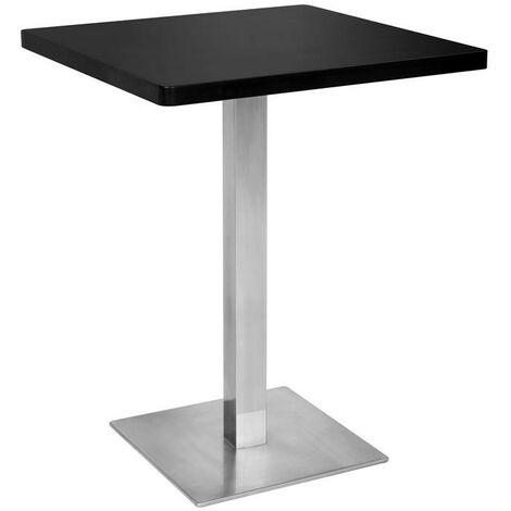 Table de bar - Table Bistrot noire 60x60x75