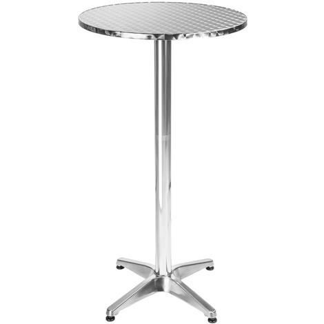 Table Mange Debout en Aluminium Ø 60 cm - Hauteur réglable 70 ou 110 cm