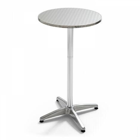 Table de bar, table haute en aluminium Soho - Gris
