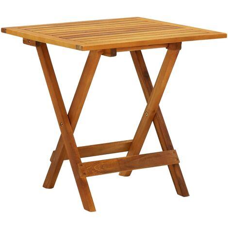 Table de bistro 46x46x47 cm Bois d'acacia massif