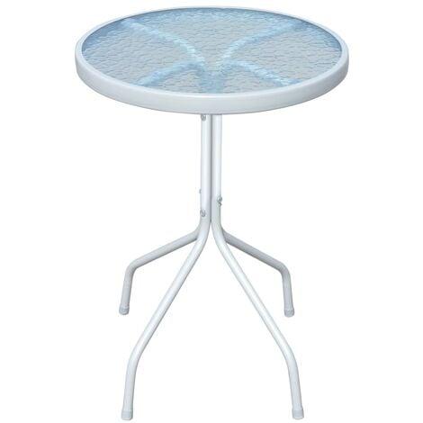 Table de bistro Gris 50x71 cm Acier