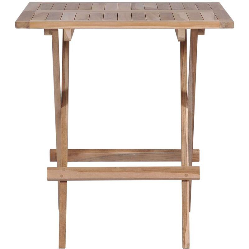 Bois Bistro De Cm Massif Teck X Table Pliable 60 65 9e2IDWEHYb