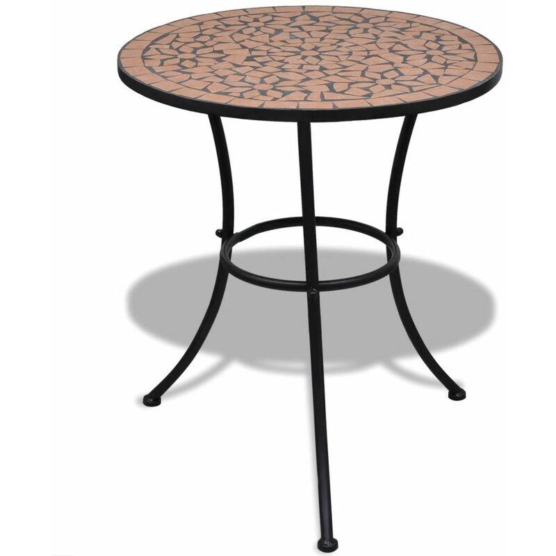Youthup - Table de bistro Terre cuite 60 cm Mosaïque