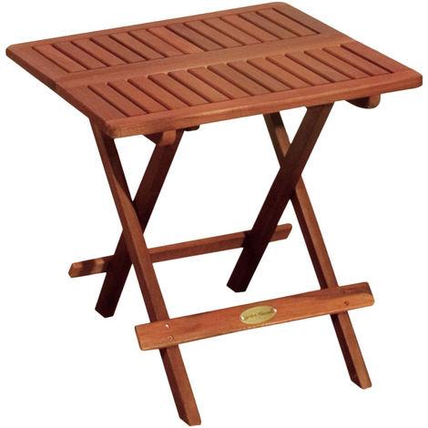 Table de bistrot d'extérieur bois d'eucalyptus huilé marron jardin balcon meubles de terrasse angulaire Harms 980081