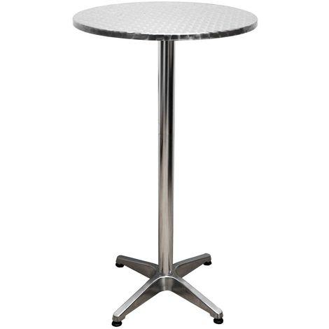 Table de bistrot en aluminium, ronde, H 110 cm - h950249