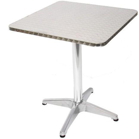 Table de bistrot terrasse bar hauteur 70 cm aluminium