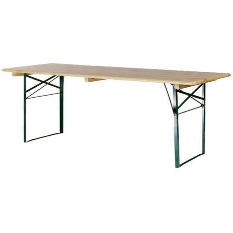 Table de brasserie piétement cornière 200x70cm