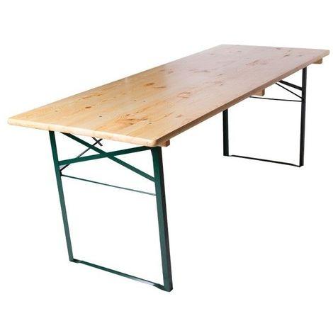 Table de brasserie piétement cornière 220x70cm