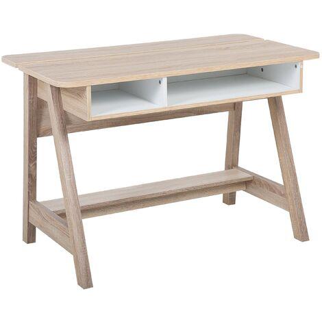 Table de bureau moderne avec double espace de rangement