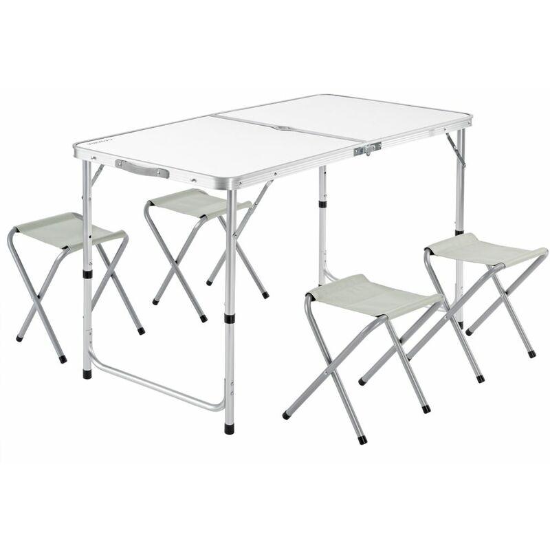Banquette Camping Alu Table 4 tabouret chaise pliable fête salon de valise