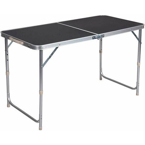 """main image of """"Table de camping table pliante réglable 120 cm noir - Noir"""""""