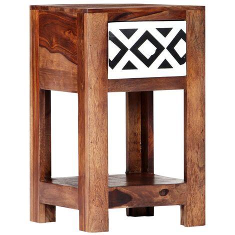 247732 x massif 30 Table de de x 50 chevet 30 cm Bois Sesham QdBoeWErCx