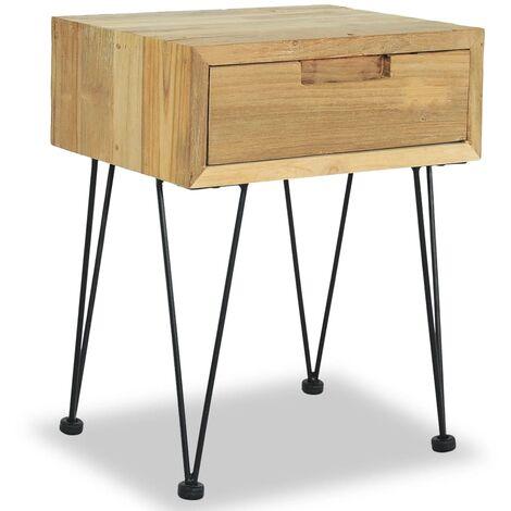 Table de chevet 40 x 30 x 50 cm Teck