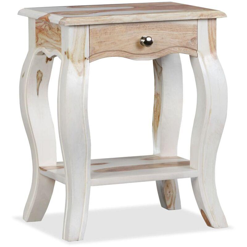 table de chevet bois massif de sesham 40 x 30 x 50 cm - 244349