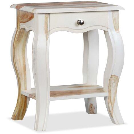 Table De Chevet Bois Massif De Sesham 40 X 30 X 50 Cm