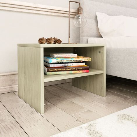 Table de chevet chêne sonoma 40 x 30 x 30 cm Aggloméré