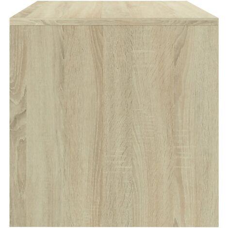 Table de chevet chene sonoma 40 x 30 x 30 cm Agglomere