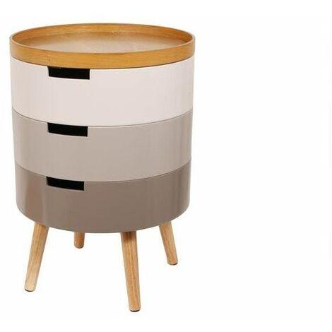 Table de chevet empilable de 3 niveaux - L 38 x l 38 x H 55 cm - Gris - Livraison gratuite