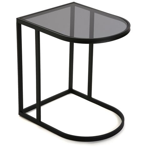 Glass bedside tables