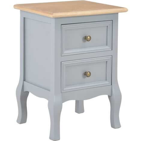 Table de chevet Gris 35x30x49 cm MDF