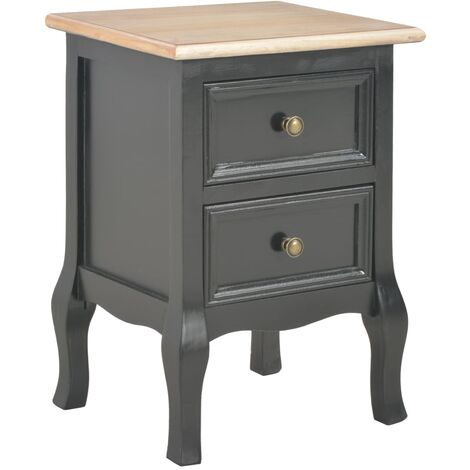Table de chevet Noir 35x30x49 cm MDF