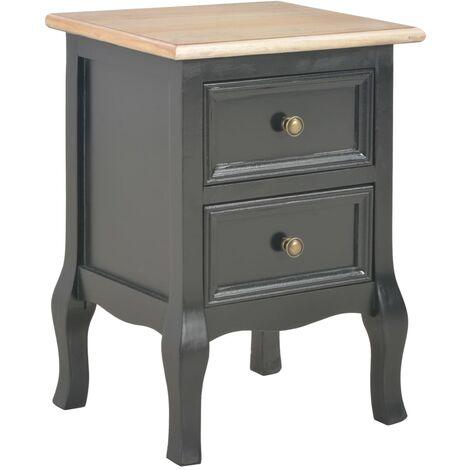 Table de chevet Noir 35x30x49 cm MDF