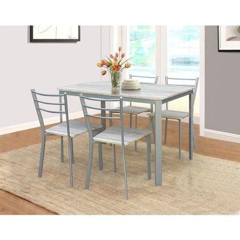 ATHENES chaises Table et à manger4 salle cuisine sonoma de gris et NOmn08wv