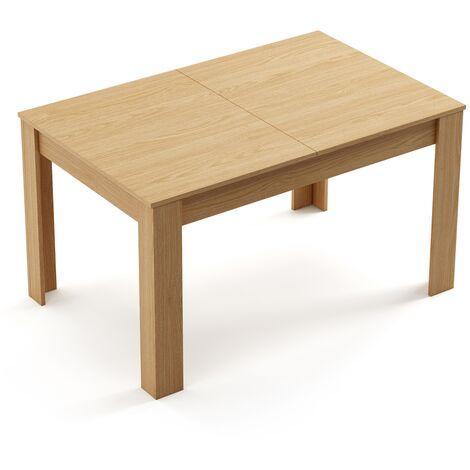 Table de cuisine moderne en bois a rallonges 140/190x90x78cm