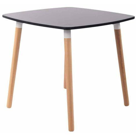 Table De Cuisine Table D Appoint En Bois Couleur Noir Hauteur 75