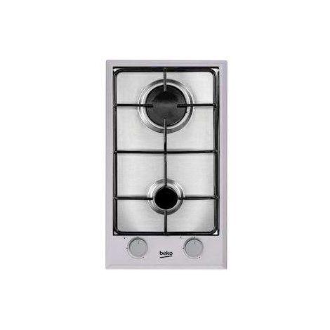 Table de cuisson, 30 cm, 2 Gaz, Inox Beko HDCG32220FX - BEKO - HDCG32220FX Sécurité par thermocouple Table très facile à nettoyer et permet d'optimiser la surface de cuisson