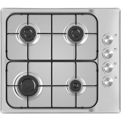 Table de cuisson gaz en acier inoxydable GAZ HOB 60 d'allumage électrique