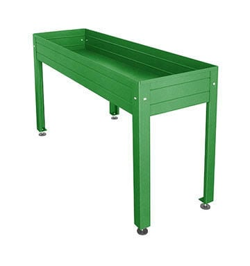 Table De Culture Jardiniere Laquee Verte 150 Cm X 50 Cm H 85