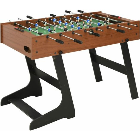 Table de football pliante 121 x 61 x 80 cm Marron