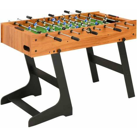 Table de football pliante 121 x 61 x 80 cm Marron clair